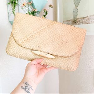 🌸🌵🌼Vintage | Wicker Straw Clutch
